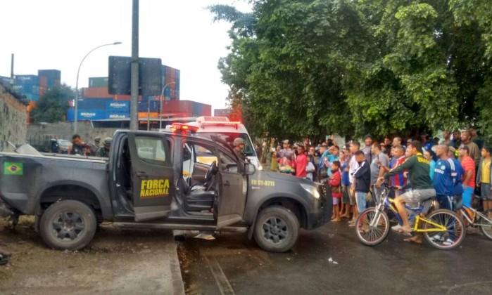 Policiais da Força Nacional são baleados no Rio