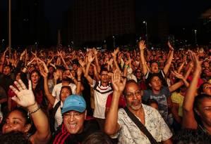 Público faz festa para o ouro olímpico brasileiro Foto: Barbara Lopes / Agência O Globo