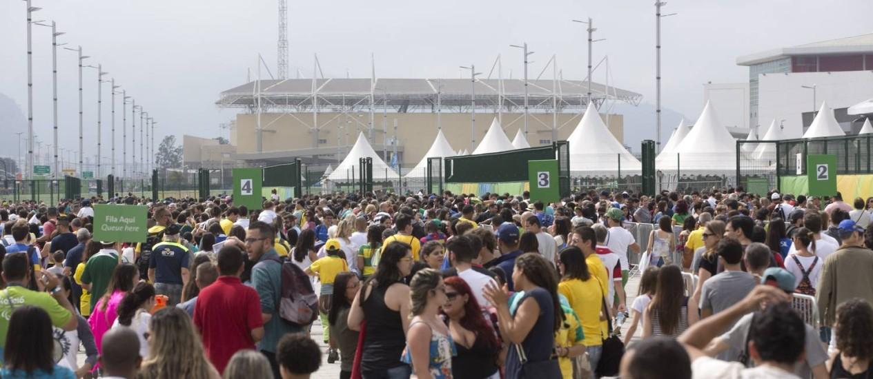 A movimentação no Parque Olímpico durante os Jogos Paralímpicos Foto: Márcia Foletto - 10/09/2016 / Agência O Globo