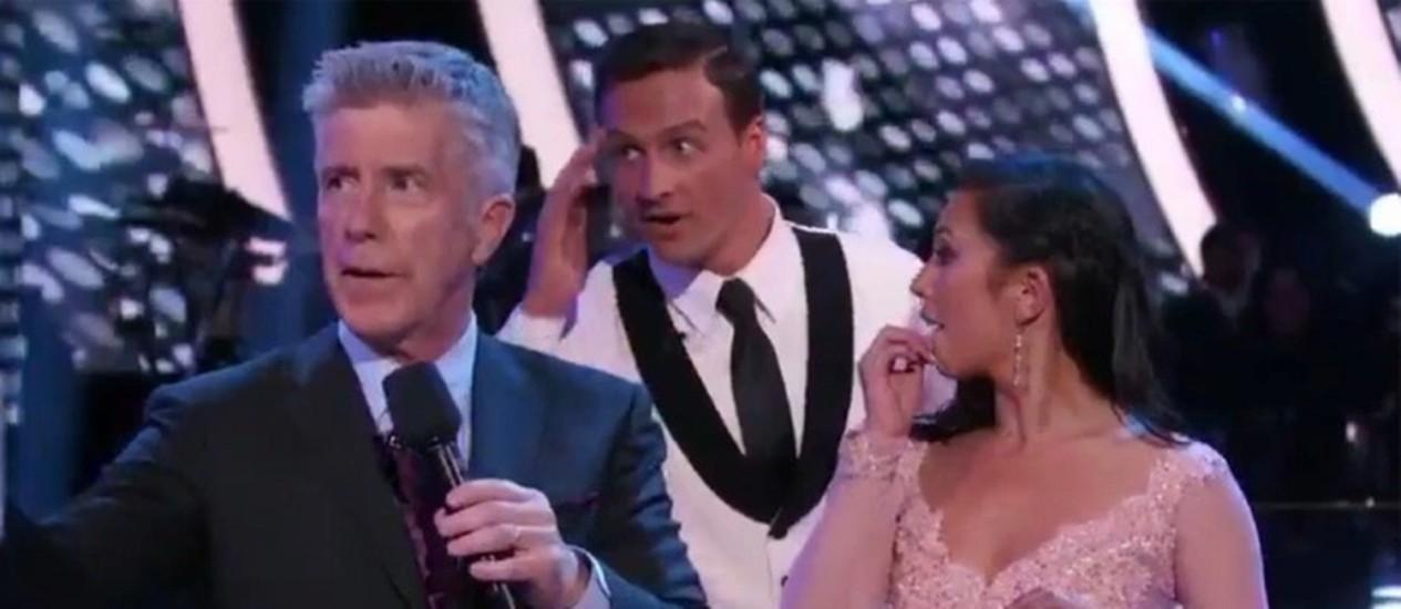 Ryan Lochte participa do quadro Dancing with the stars', da emissora ABC Foto: Reprodução / Variety
