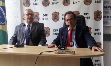 Coletiva sobre operação contra envolvidos em furto de equipamentos de hospitais Foto: Patrícia de Paula / O Globo