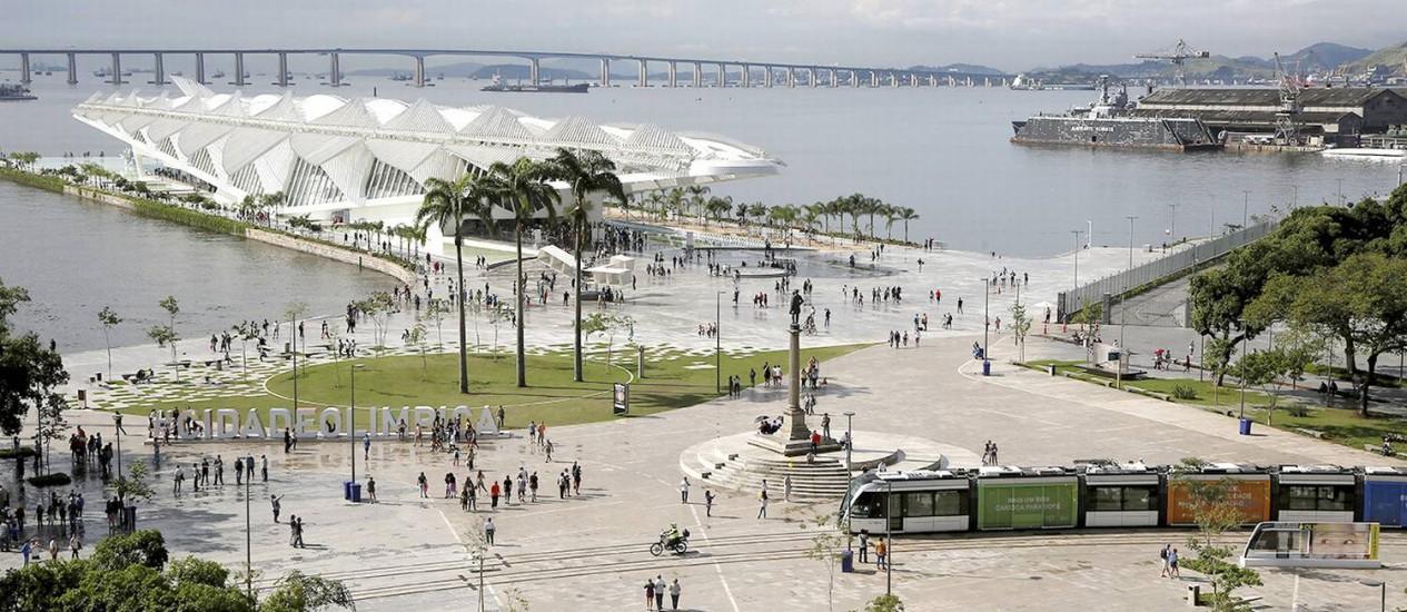 A região do Píer Mauá é um exemplo claro da revitalização que transformou o Centro do Rio no lugar mais charmoso da cidade Foto: Pablo Jacob / Pablo Jacob / Agencia O GLobo
