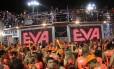 O bloco Eva: produtor argumenta que grupo não toca só axé, mas música brasileira Foto: Reprodução