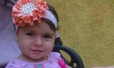 A menina Sofia Lara Braga, de 2 anos Foto: Reprodução