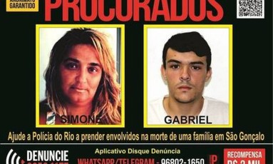 Recompensa é de R$ 2 mil Foto: Foto: Divulgação