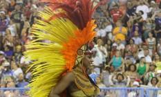 """Enredo """"Xingu, o clamor que vem da floresta"""" evocou os povos indígenas Foto: Marcelo Theobald / Agência O Globo"""