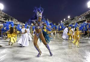 A Portela se tornou a maior campeã do carnaval carioca. Com o título deste ano, a agremiação tem 22 vitórias Foto: Fabio Rossi / Agência O Globo