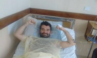 Bruno teve que passar por cirurgia de emergência na Argentina Foto: Acervo pessoal