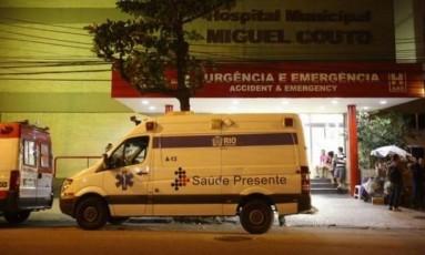 Hospital municipal Miguel Couto, no Leblon Foto: Guilherme Leporace