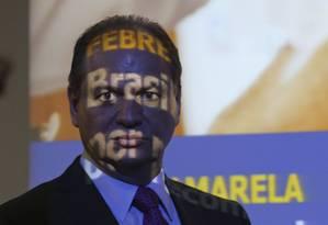 O ministro da Saúde, Ricardo Barros, anunciou estratégia para conter o avanço da doença no país Foto: Fabio Rodrigues Pozzebom/Agência Brasil / Agência O Globo