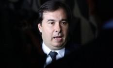 Presidente da Câmara, Rodrigo Maia Foto: Givaldo Barbosa / Agência O Globo