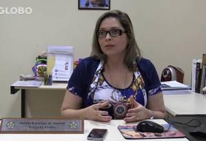 Delegada Juliana Emerique de Amorim, da Dcav Foto: Reprodução Vídeo