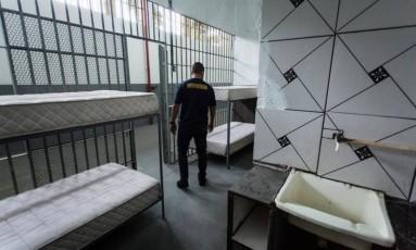 Cadeia Pública José Frederico Marques: Unidade prisional reformada para receber os presos da Lava-Jato, no Rio Foto: Fernando Lemos / O Globo