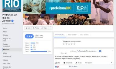 Comentários foram feitos na página da prefeitura Foto: Reprodução/Facebook