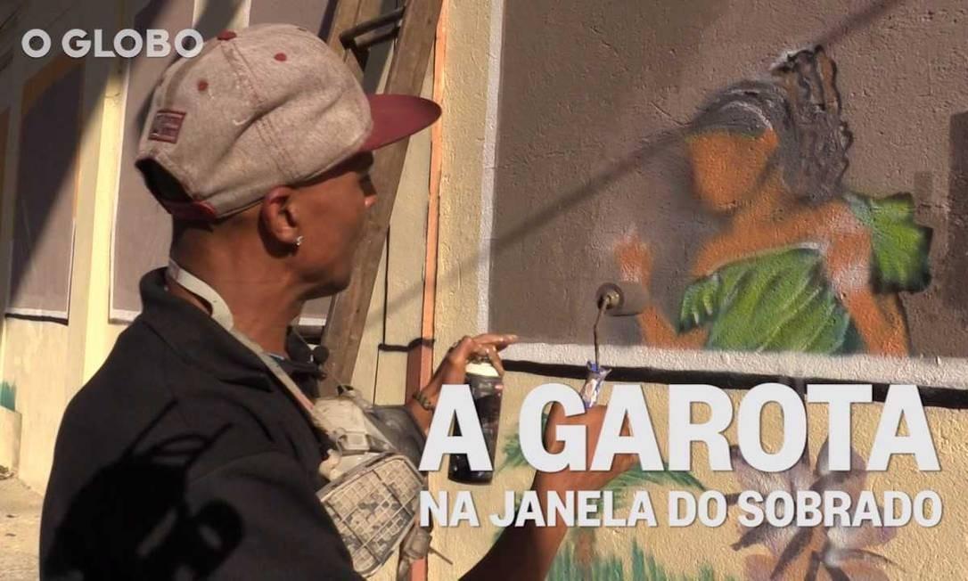 Pintura chama a atenção em sobrado na Lapa Foto: Elcio Braga