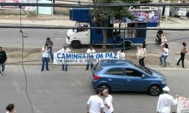 Início da manifestação na Rua Leopoldo Bulhões, no sentido Bonsucesso Foto: Reprodução/OTT