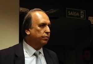 O governador do Rio, Luiz Fernando Pezão Foto: Givaldo Barbosa - 08/08/2017 / Agência O Globo