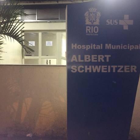 O pequeno Arthur foi encaminhado ao Hospital municipal Albert Schweitzer Foto: Dayana Resende