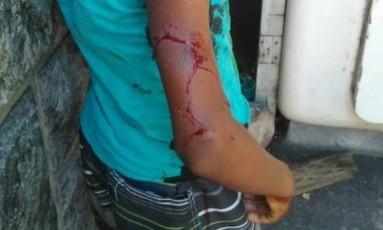 Menino de 13 anos foi atingido por tiros enquanto estava no carro com o pai Foto: Arquivo pessoal