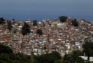 Tiroteios dos últimos dias mostraram o poder de fogo da Rocinha Foto: Custódio Coimbra / Agência O Globo