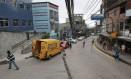 Van dos Correios na Rocinha: desde o último dia 22, entregas estão suspensas na favela Foto: Marcelo Piu/6.12.2011