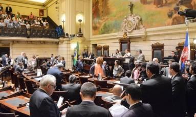 Plenário da Câmara Municipal do Rio Foto: Renan Olaz / Câmara