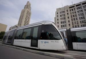 A Estação Central, do VLT, começou a operar no dia 21 de outubro Foto: Márcia Foletto / Agência O Globo