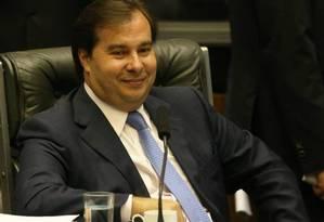Presidente da Câmara dos Deputados, Rodrigo Maia Foto: Ailton de Freitas / Agência O Globo