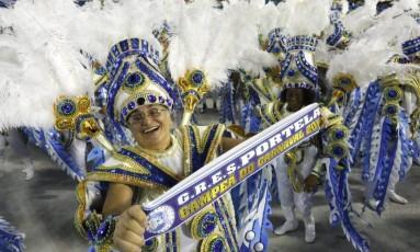 Desfile das escolas de samba na Sapucaí Foto: Fábio Rossi / Agência O Globo