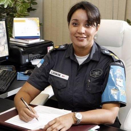 Tenente Coronel Claudia Lovain foi exonerada do comando do 3º CPA Foto: Fábio Rossi / Agência O Globo
