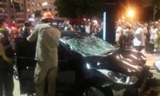 Motorista perdeu controle de veículo e atropelou pedestres em Copacabana Foto: Rio de Janeiro News/Reprodução