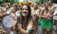 Bloco Só Caminha apostou no tema safari para alegrar o desfile em seu nono ano Foto: Uanderson Fernandes / Agência O Globo
