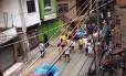 Moradores fazem protesto na Rocinha Foto: Reprodução/Facebook