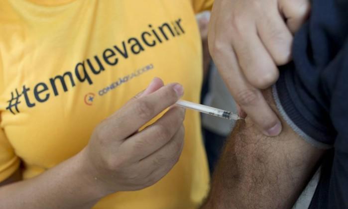 Sem vacinação fim de semana — Febre amarela