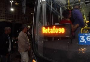 Nesta segunda, passagem subiu de R$3,40 para R$3,60 Foto: Paulo Nicolella / Agência O Globo