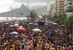 Bloco Simpatia é Quase Amor, em Ipanema Foto: Roberto Moreyra / Agência O Globo