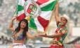 Mestre-sala e porta-bandeira da Grande Rio