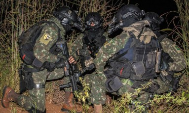 Forças especiais do Exército durante treinamento Foto: Divulgação / Exército brasileiro