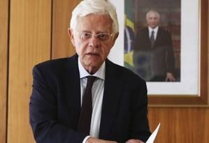 O ministro Moreira Franco no Palácio do Planalto Foto: Ailton de Freitas / Agência O Globo