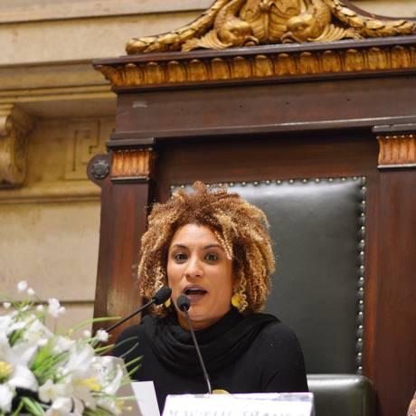 Marielle Franco na Câmara de Vereadores Foto: Rafaela Cassiano