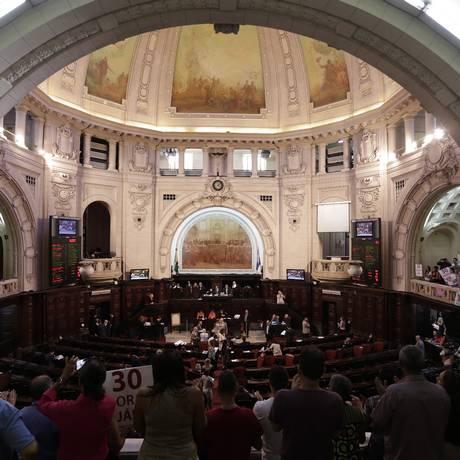 Sessão da Alerj presidida pelo deputado André Ceciliano Foto: Gustavo Miranda / Agência O Globo