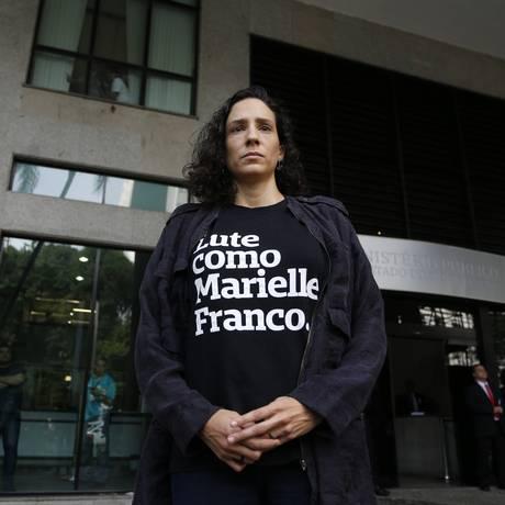 Anistia Internacional realizou protesto em frente ao Ministério Público do Rio para cobrar emprenho dos promotores na investigação dos assassinatos de Marielle Franco e Anderson Gomes Foto: Pablo Jacob / Pablo Jacob