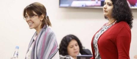 À esquerda, uma das acusadas: Elisa Quadros Pinto, a Sininho, em 2015 Foto: Marcelo Carnaval / Agência O Globo