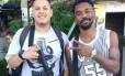 William Preciliano (à esquerda) em foto feita durante a gravação de um filme Foto: Divulgação