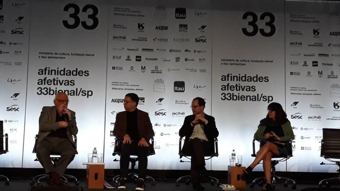 Coletiva de imprensa sobre a 33ª Bienal de São Paulo Foto: Alessandro Giannini / Agência O Globo