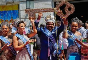 Rei Momo, rainha e princesas do carnaval 2018 Foto: Marcelo Régua/09-02-2018 / Agência O Globo