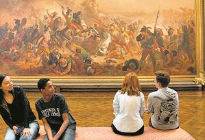 O quadro Batalha dos Guararapes é um dos destaques do Museu Nacional de Belas Artes, que não tem projeto de prevenção a incêndios Foto: Márcia Foletto