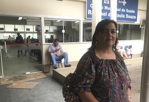 """Rosângela é atendida na Clínica da Família Raphael de Paula Souza: """"Não quero perder o meu médico"""" Foto: Flávia Junqueira"""