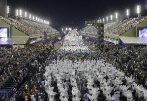 Desfile da Beija-flor, campeã de 2018, que não participou do ensaio técnico deste ano Foto: Alexandre Cassiano / Agência O Globo
