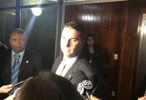 O deputado estadual e senador eleito Flávio Bolsonaro (PSL-RJ), filho do presidente eleito Jair Bolsonaro Foto: Daniel Gullino/ Agência O GLOBO